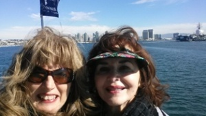 Me and Mom enjoying a Harbor Cruise on the San Diego Bay